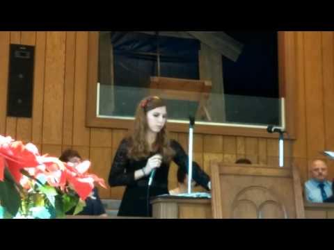 Katelyn singing Oh Holy Night go radio verison
