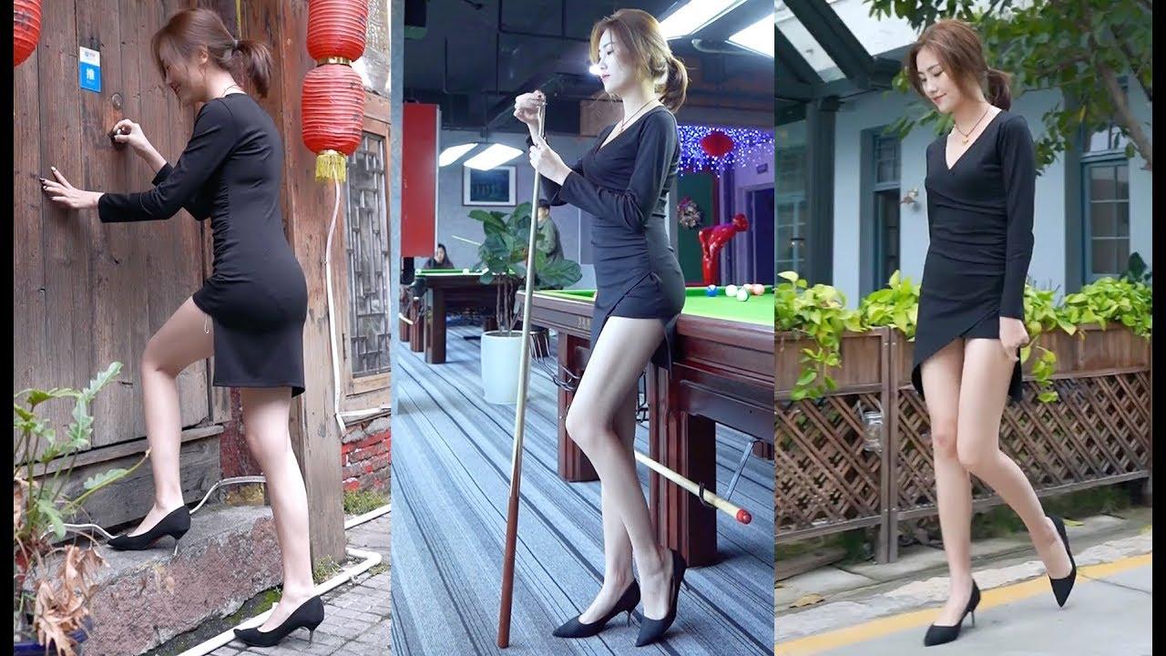 超級「大長腿」女神「美腿」高根鞋「緊身小短裙」曼妙身材回頭率百分百
