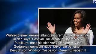 Michelle Obama über Besuch bei Queen Elisabeth II.: