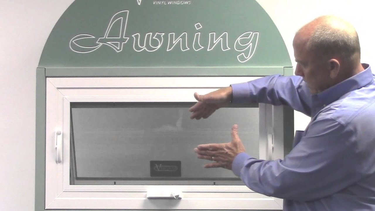 how to remove and install an awning window screen youtube