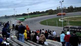 Bus crashes into stands at Owosso Speedway