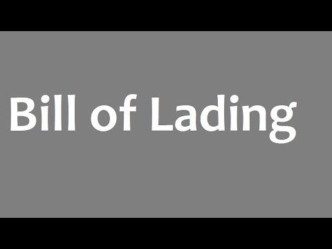 Bill of Lading : Types of Bill of Lading & Bill of Lading Samples
