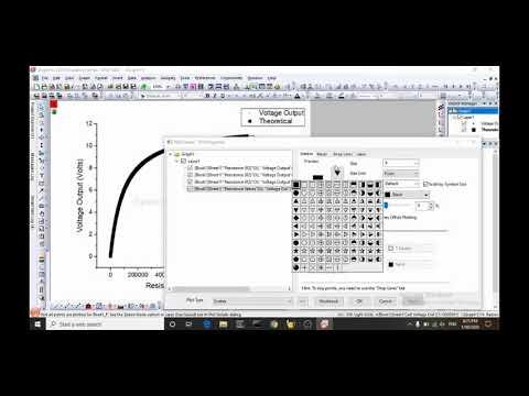 Origin Lab 2020 - Plotting Data, Theory Curve, Semilog X, Making It Pretty