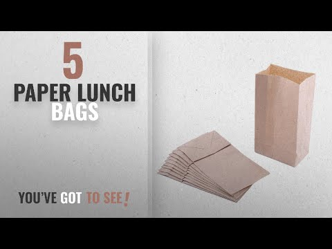 Best Paper Lunch Bags [2018]: Small Paper Snack Bags, Durable Kraft Paper Bags, 2 Pound Capacity,
