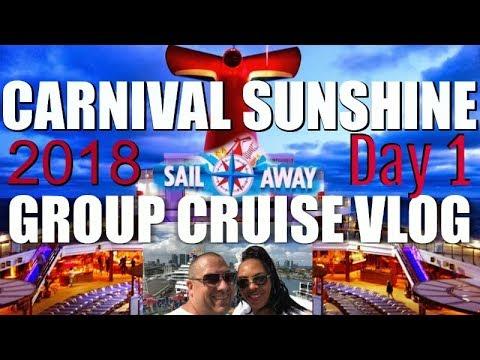 Carnival Sunshine GROUP CRUISE | Day 1 VLOG in 4K