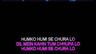 Gambar cover Hum Ko Humein Se Chura Lo - Karaoke - Mohabbatein - Lata Mangeshkar ; Udit Narayan