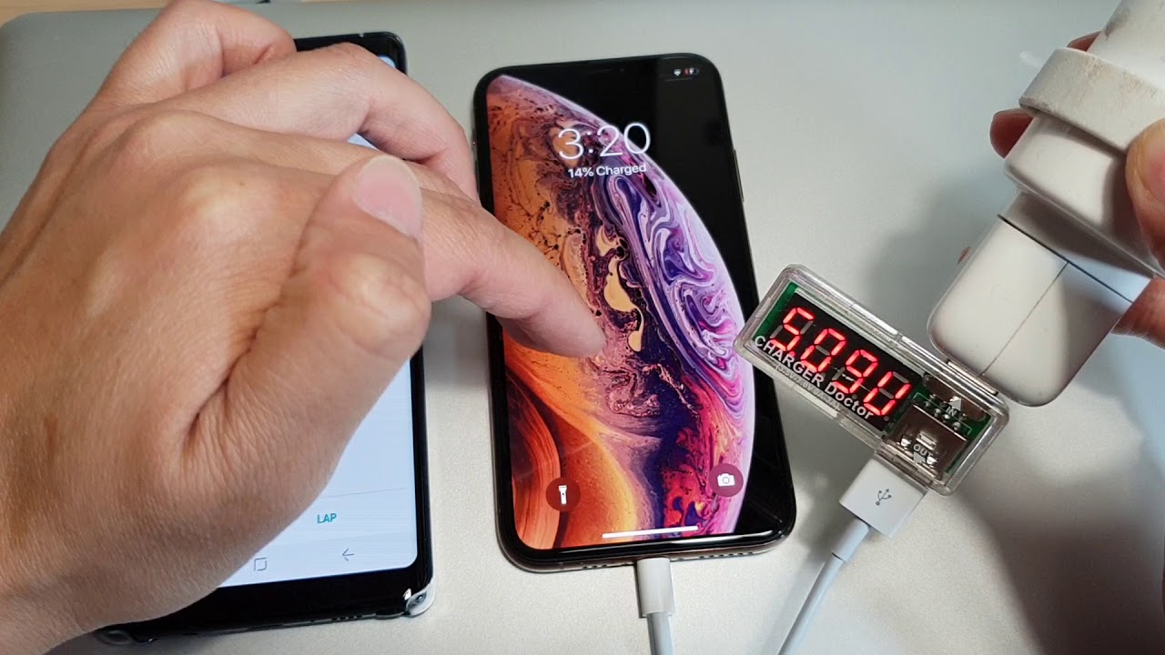 uk availability 1c660 2c321 Fast Charge iPhone XS With 12W Charger 2.4 amp Test