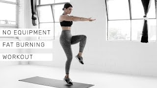 NO EQUIPMENT FAT-BURNING WORKOUT [20mins] // Rachel Aust