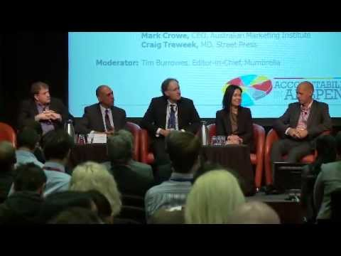Mumbrella editor-in-chief Tim Burrowes leads panel discussion on media