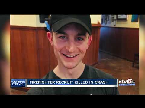 Indianapolis recruit firefighter killed in 4-car crash near Indianapolis Regional Airport