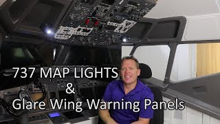 737 Map Lights & 6 Pack