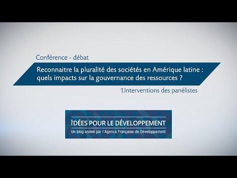 Pluralité des sociétés en Amérique latine : quels impacts sur la gouvernance des ressources ? 1/2