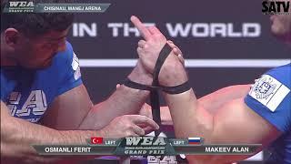 World Elite ARmwrestling 2018 - Left arm qualification (intense matches)