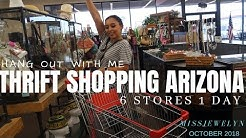 Hang out  with me: Thrift Shopping Arizona 6 Stores 1 Day | October 2018 | MISSJEWELYN