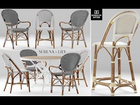 """№4.Моделирование плетеных стульев """"serena And Lily"""" в 3d Max"""