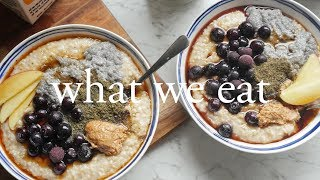 One of cam & nina's most viewed videos: What We Eat in a Day | ft Morning Routine
