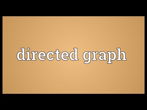 Directed graph Meaning