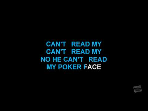 Poker Face in the style of Lady Gaga karaoke video with lyrics