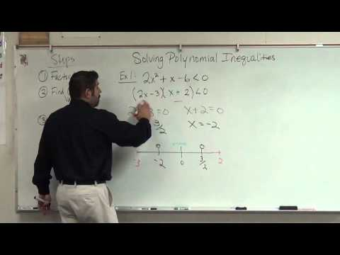 how to solve polynomial inequalities