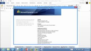 Business Intelligence in Microsoft Dynamics GP 2013 03 Word Templates
