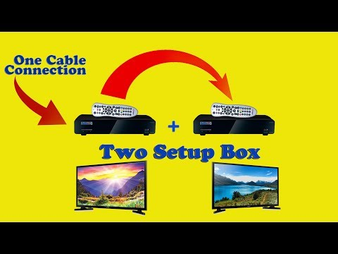 |Hindi| How to connect 2 setup box from one cable connection|| Run 2 TV Seperatly