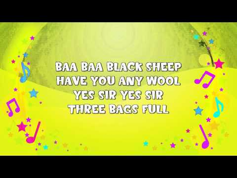 Baa Baa Black Sheep | Karaoke | Nursery Rhyme | KiddieOK
