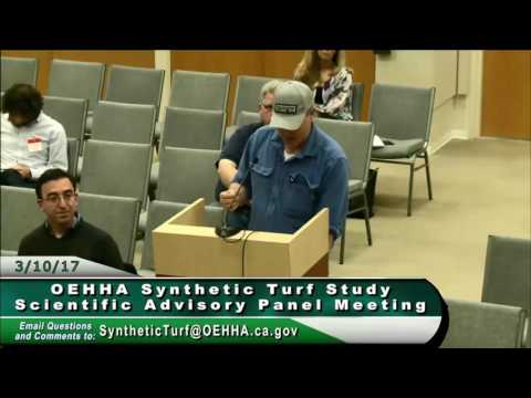 2nd OEHHA Synthetic Turf Scientific Advisory Panel Meeting – Part 9/11 Public Comments