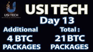 USI Tech Update : Day 13 Additional 4 BTC Packages, Total 21 BTC Packages