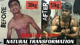 ABHISHEK | 1 Year Natural Body Transformation (17-18) | Journy From Skinny to Fit by Ab health films
