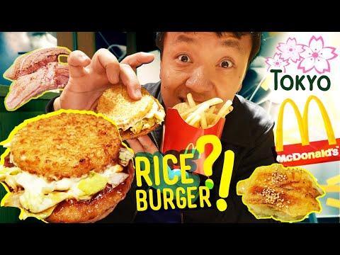McDonalds Japan RICE BURGER & Conveyor Belt SUSHI In Tokyo Japan