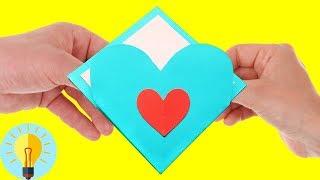 Basteln mit papier: Herz-Karte zum Valentinstag| DIY Bastelideen