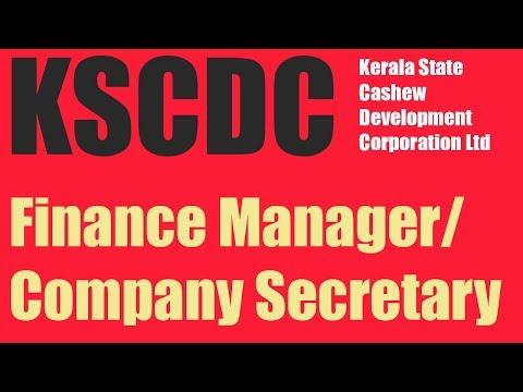 KSCDC Recruiting Finance Manager/Company Secretary I Government Jobs 2019