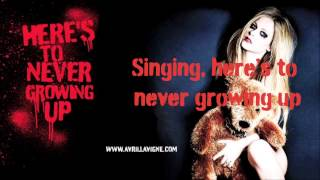 Video Avril Lavigne - Here's To Never Growing Up (Official Karaoke With Vocals) download MP3, 3GP, MP4, WEBM, AVI, FLV Juli 2018