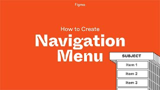Figma Project: Build a Navigation Menu with Components