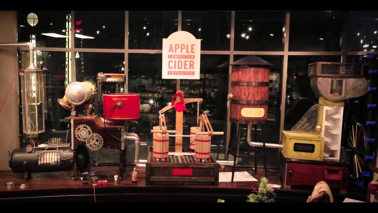 Deseret Book Flagship Store SLC Apple Cider Machine Timelapse