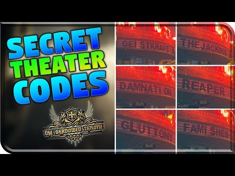 """All 7 Possible """"SECRET CODE"""" Combinations - The Shadowed Throne -THEATRE EASTER EGG (WW2 Zombies)"""