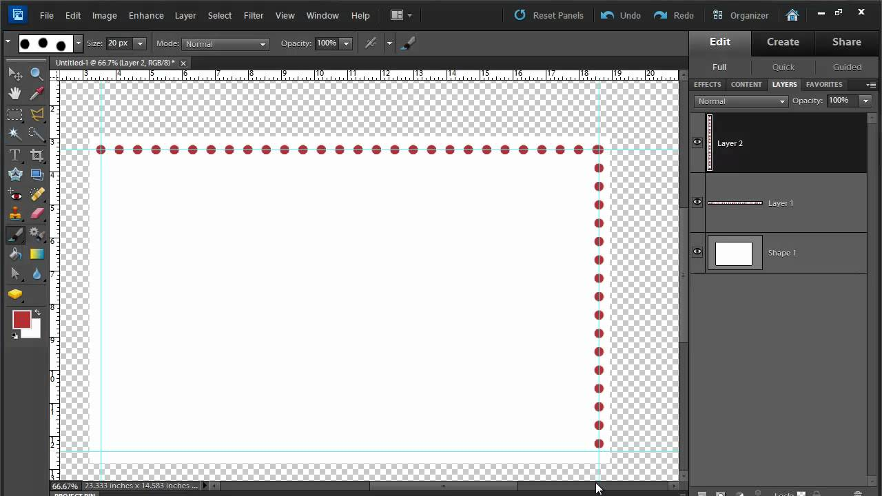 Drawing A Dotted Line In Gimp : Draw a dotted line in photoshop elements youtube