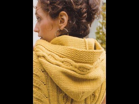 Женское Пальто с Капюшоном Спицами - 2017 / Womens hooded coat spokes /Kapuze Speichen Mantel