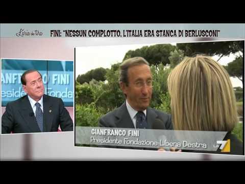 Fini: 'Nessun complotto, l'Italia era stanca di Berlusconi'