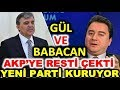 Gül ve Babacan'ın parti kurması kesinleşti! Mart yerel seçimleri son anket. Ak parti CHP MHP HDP oyu