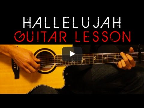 Jeff Buckley Hallelujah Acoustic Guitar Lesson Tutorial Cover