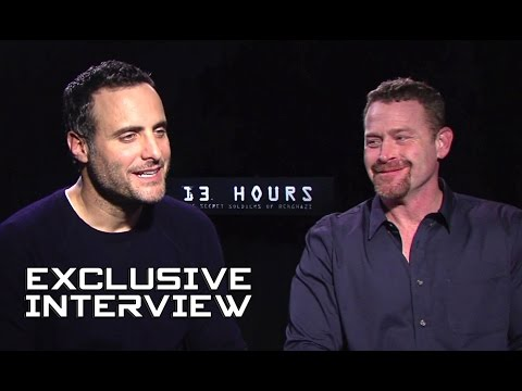 Dominic Fumusa & Max Martini Exclusive   13 HOURS: THE SECRET SOLDIERS OF BENGHAZI