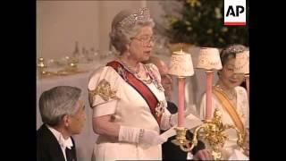 UK: EMPEROR AKIHITO & EMPRESS MICHIKO ATTEND ROYAL BANQUET (2)
