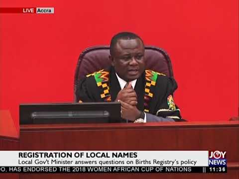 Registration of Local Names - JoyNews (30-1-18)