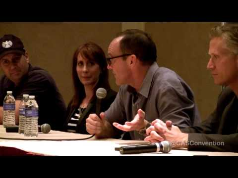 Kid Coulson Asks a question of the Agents of S.H.I.E.L.D. Panel