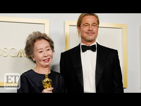 Yuh-Jung-Youn-Chats-With-Brad-Pitt-Backstage-At-Oscars
