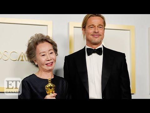 Yuh-Jung-Youn-Chats-With-Brad-Pitt-Backstage-At-Oscars