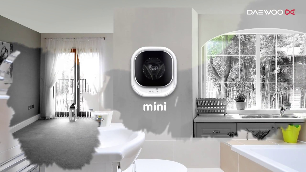 lave linge mural mini daewoo youtube. Black Bedroom Furniture Sets. Home Design Ideas