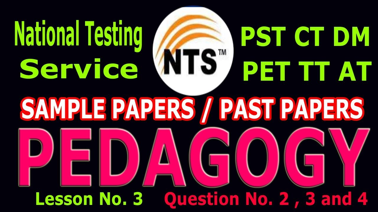 NTS Pedagogy Questions with Answer Q No  2 , 3 and 4   Lesson No  3