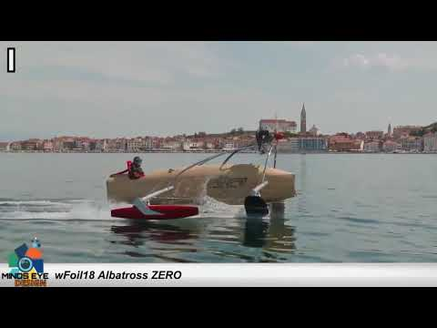 BOAT + GLIDER Combo: wFoill8 Albatross Zero Flying Boat | Crazy Boats #1 | Avalon Luxury Pontoons